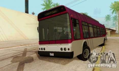 Transit Bus из GTA 5 для GTA San Andreas вид сзади слева