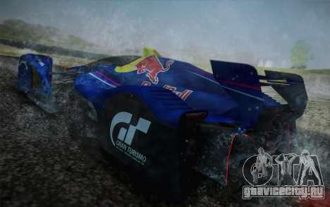 GT Red Bull X10 Sebastian Vettel для GTA San Andreas вид сбоку