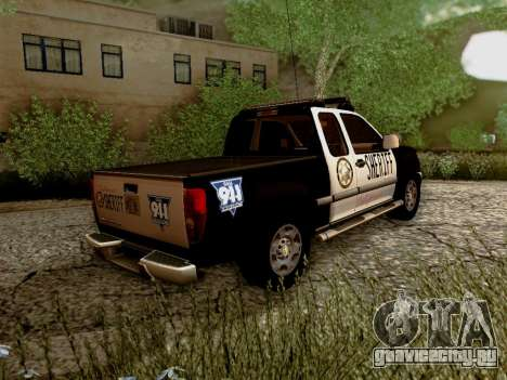 Chevrolet Colorado Sheriff для GTA San Andreas вид справа