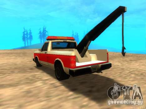 Новый Эвакуатор (Bobcat) для GTA San Andreas вид сзади слева