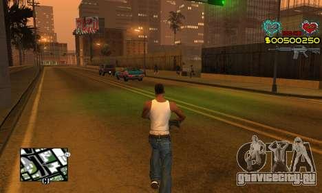C-HUD New Liberia для GTA San Andreas