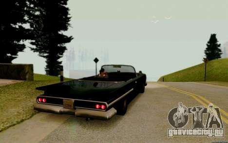 Voodoo Кабриолет (версия с фарами) для GTA San Andreas вид сзади слева
