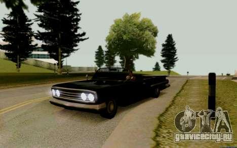 Voodoo Кабриолет (версия с фарами) для GTA San Andreas