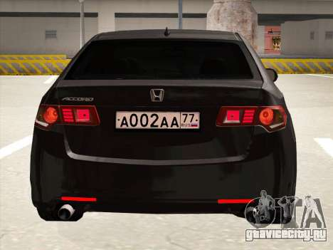 Honda Accord 2009 для GTA San Andreas вид сбоку