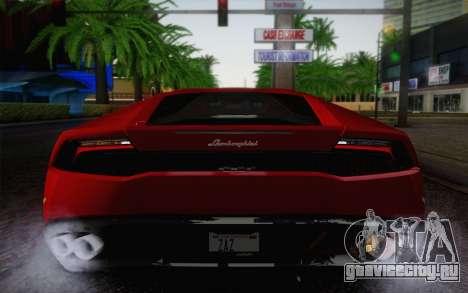 Lamborghini Huracan 2013 для GTA San Andreas вид сверху
