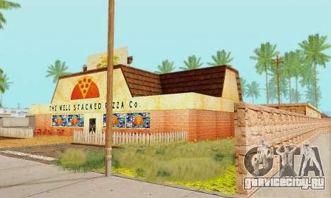 Новая текстура пиццерии и отеля в Иделвуде для GTA San Andreas