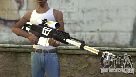 Golden Sniper Rifle для GTA San Andreas третий скриншот