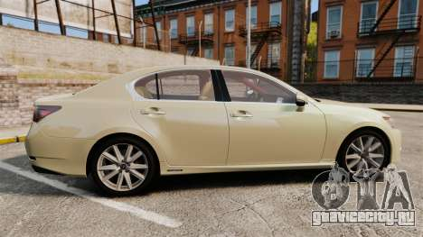 Lexus GS 300h для GTA 4 вид слева
