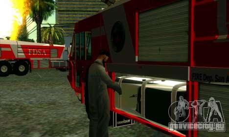 Реалистичная пожарная станция в Лас Вентурасе для GTA San Andreas