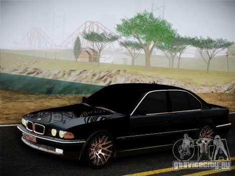 BMW 730d E38 1999 для GTA San Andreas вид сзади слева