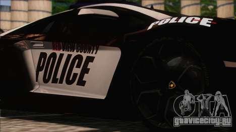 Lamborghini Aventador LP 700-4 Police для GTA San Andreas вид сзади