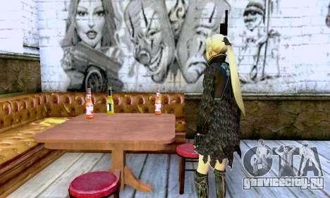 Девушка блондинка в черной одежде для GTA San Andreas третий скриншот