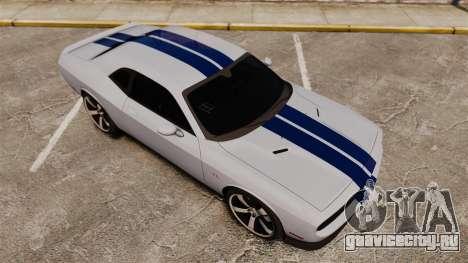 Dodge Challenger SRT8 2012 для GTA 4 вид сверху