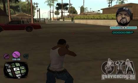 C-HUD Ice Cube для GTA San Andreas второй скриншот