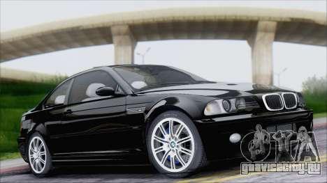 BMW M3 E46 2002 для GTA San Andreas вид изнутри