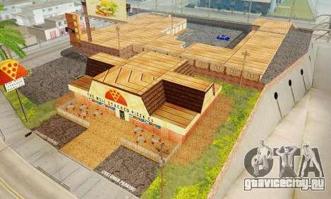 Новая текстура пиццерии и отеля в Иделвуде для GTA San Andreas десятый скриншот
