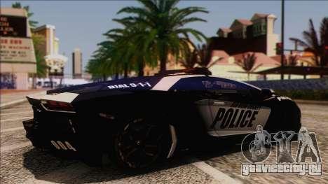 Lamborghini Aventador LP 700-4 Police для GTA San Andreas вид справа