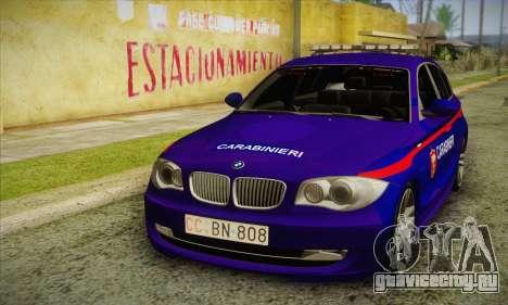 BMW 120i SE Carabinieri для GTA San Andreas