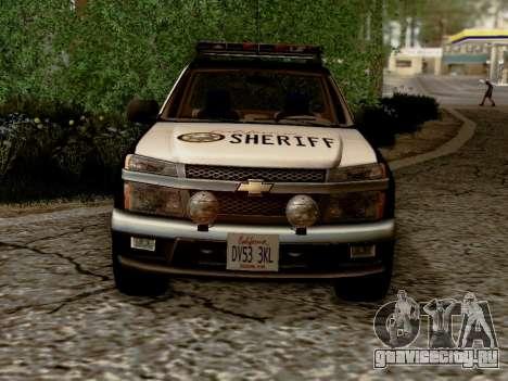 Chevrolet Colorado Sheriff для GTA San Andreas вид изнутри