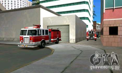 Реалистичная пожарная станция в Лос Сантосе для GTA San Andreas второй скриншот