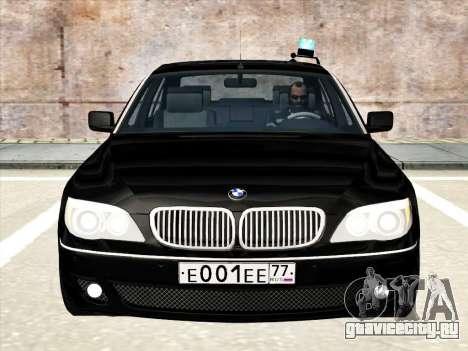 BMW 760Li для GTA San Andreas вид сверху