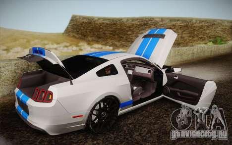 Ford Shelby GT500 2013 для GTA San Andreas вид сбоку