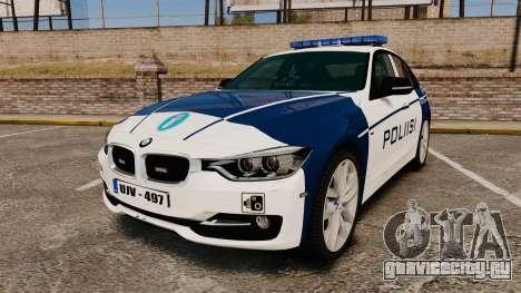 BMW F30 328i Finnish Police [ELS] для GTA 4