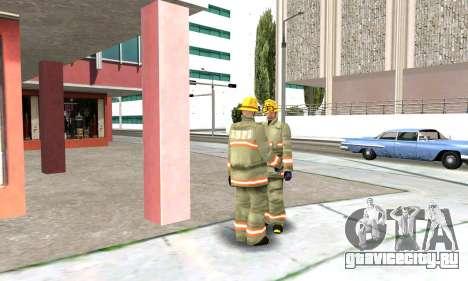 Реалистичная пожарная станция в Лос Сантосе для GTA San Andreas пятый скриншот