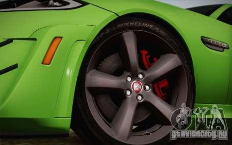 Jaguar XKR-S GT 2013 для GTA San Andreas вид справа