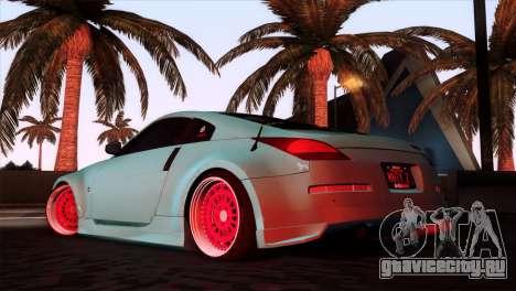 Nissan 350Z Minty Fresh для GTA San Andreas вид слева