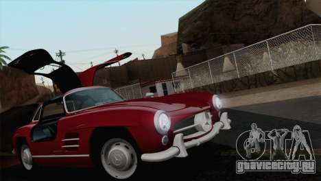 Mercedes-Benz 300SL 1955 для GTA San Andreas вид сверху