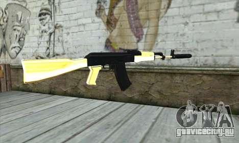 Golden AK47 для GTA San Andreas второй скриншот
