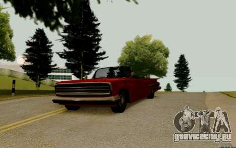 Voodoo Кабриолет (версия без фар) для GTA San Andreas вид справа