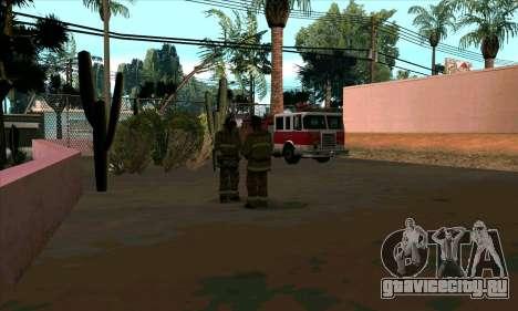 Реалистичная пожарная станция в Лас Вентурасе для GTA San Andreas второй скриншот