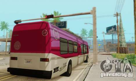 Transit Bus из GTA 5 для GTA San Andreas вид сзади