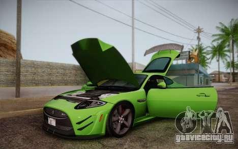 Jaguar XKR-S GT 2013 для GTA San Andreas вид изнутри