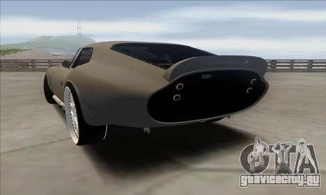 Shelby Cobra Daytona для GTA San Andreas вид слева