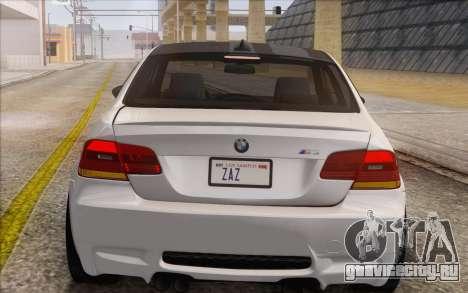 BMW M3 E92 2008 для GTA San Andreas вид сбоку
