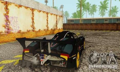 Pagani Zonda Type R Black для GTA San Andreas вид сзади слева