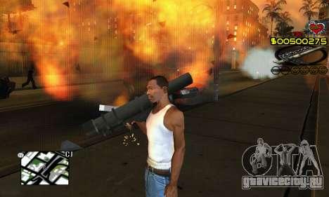 C-HUD New Liberia для GTA San Andreas четвёртый скриншот
