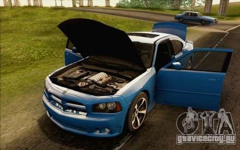 Dodge Charger SRT8 2006 для GTA San Andreas вид изнутри