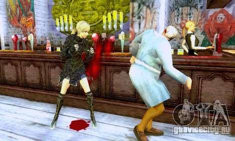 Девушка блондинка в черной одежде для GTA San Andreas пятый скриншот