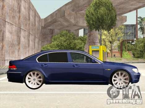 BMW 760Li для GTA San Andreas вид изнутри