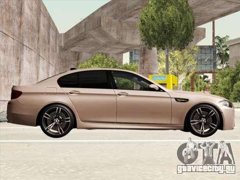 BMW M5 F10 2012 для GTA San Andreas вид изнутри