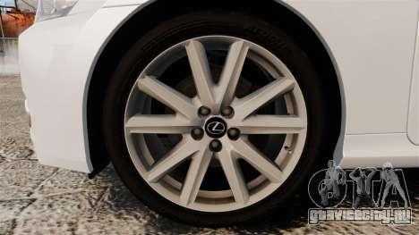 Lexus GS 300h для GTA 4 вид сзади