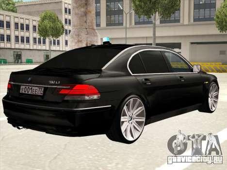 BMW 760Li для GTA San Andreas салон