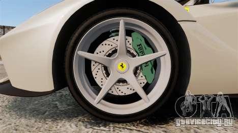 Ferrari LaFerrari Spider v2.0 для GTA 4 вид сзади