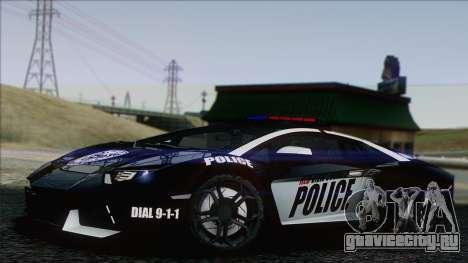 Lamborghini Aventador LP 700-4 Police для GTA San Andreas
