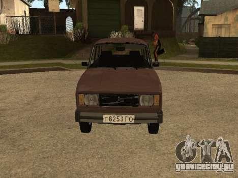 ВАЗ 2105 ранняя версия для GTA San Andreas вид слева