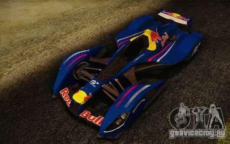 GT Red Bull X10 Sebastian Vettel для GTA San Andreas вид слева